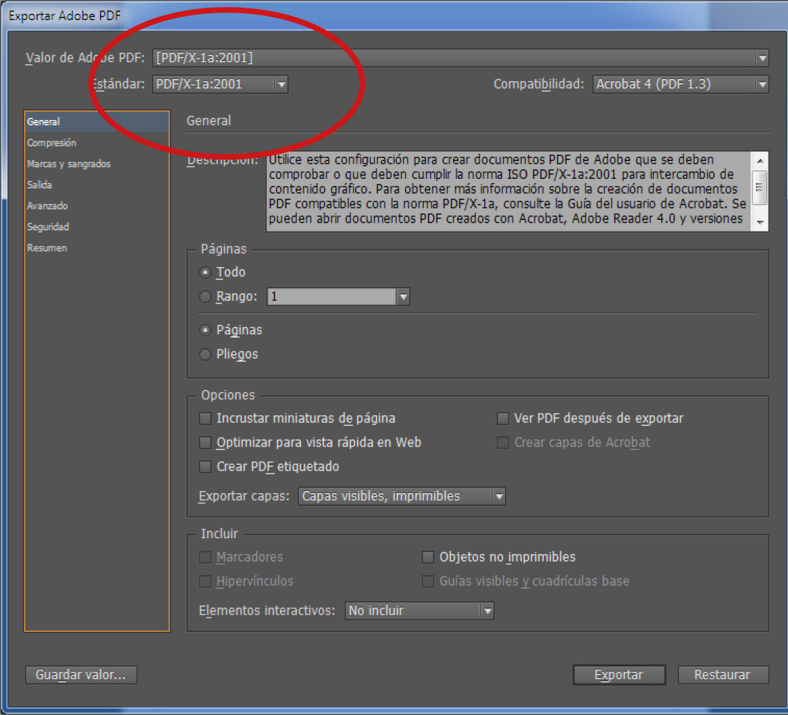 Tutorial para genera PDF en Indesign