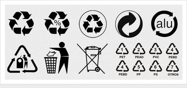 iconos reciclaje