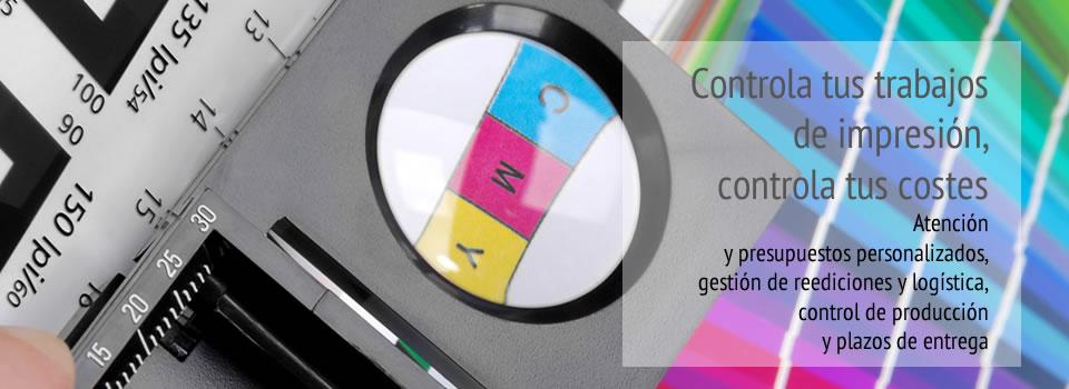Ingra Controla tus trabajos de impresión, controla tus costes