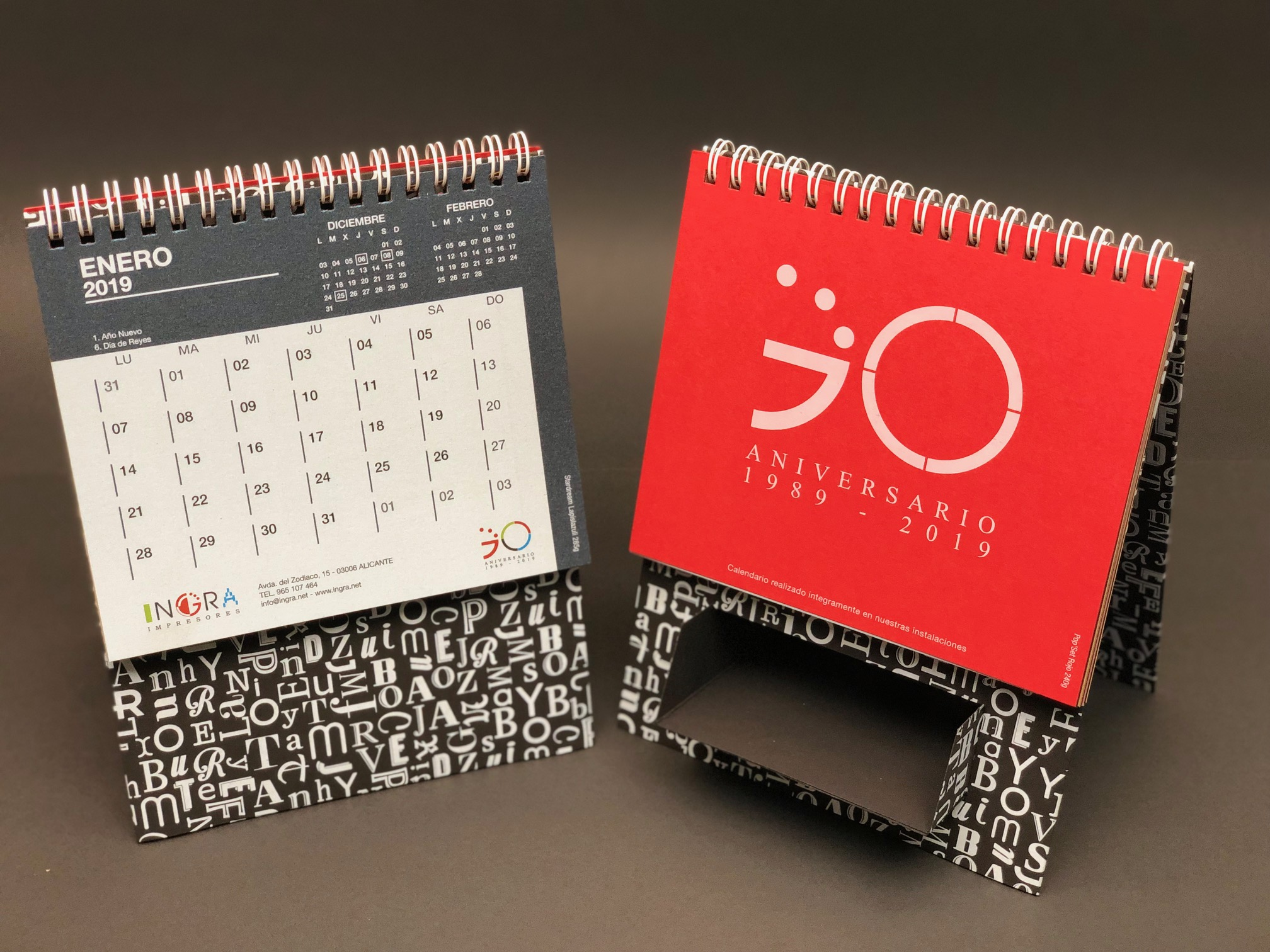 calendario ingra impresores 2019